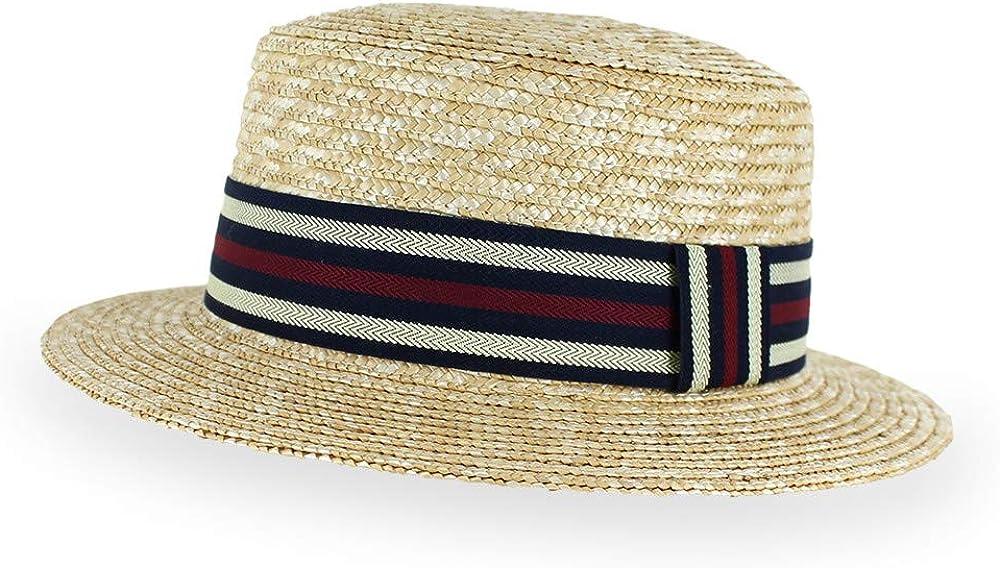 Belfry Boater Straw Skimmer Adjustable Popular brand Fedora Spring Hat Summer New mail order