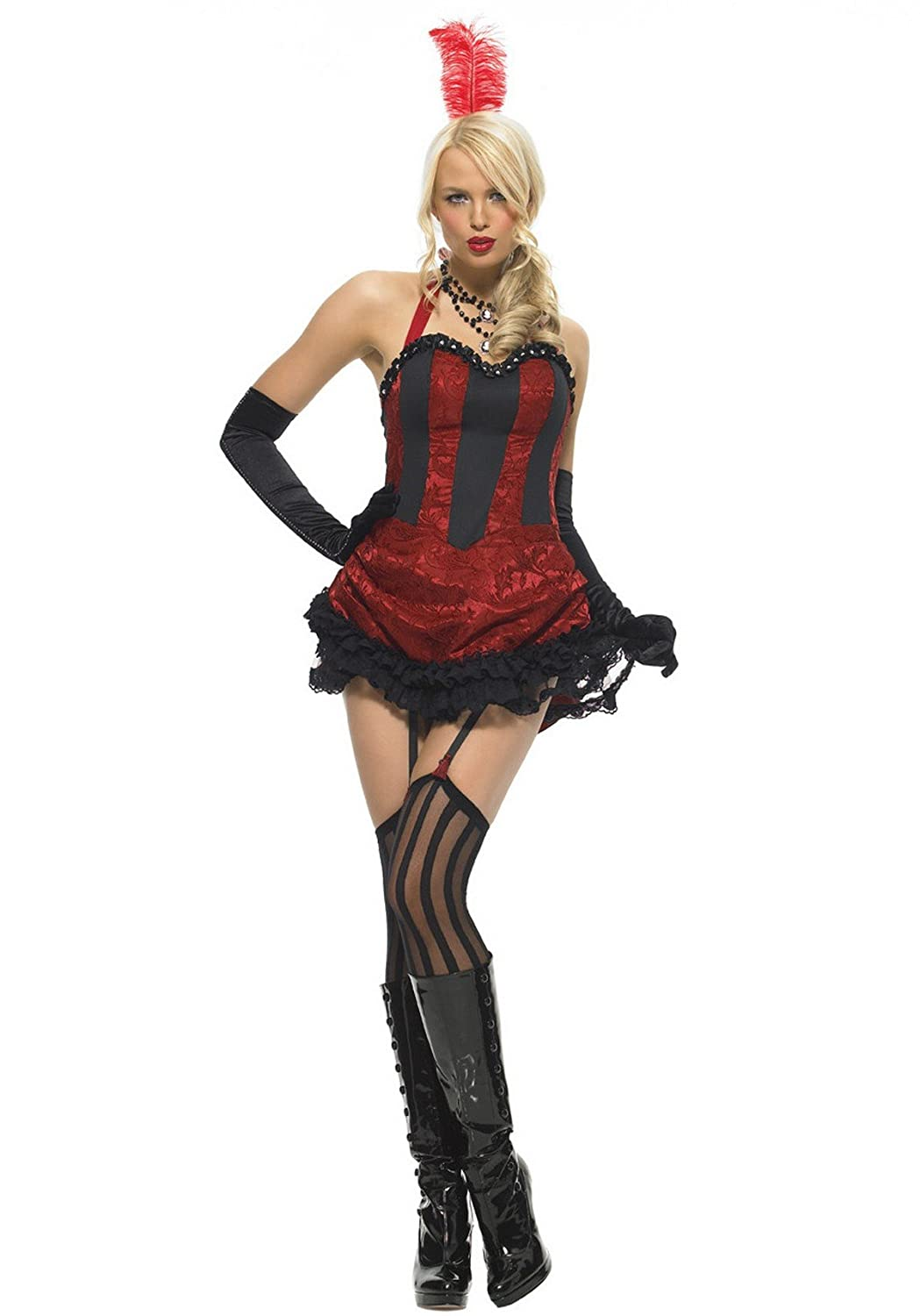 Leg Avenue Burlesque – Dancer Disfraz, Dress con Bustle Back – XL – Burdeos/Negro – 83426: Amazon.es: Salud y cuidado personal