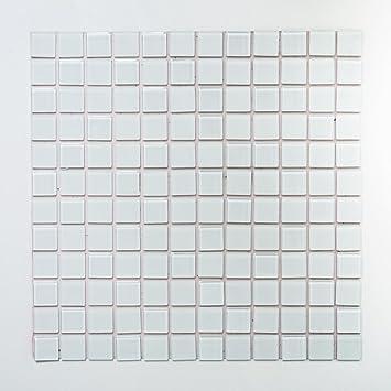 Mosaik Fliese Selbstklebend Transluzent Weiss Glasmosaik Crystal Weiss