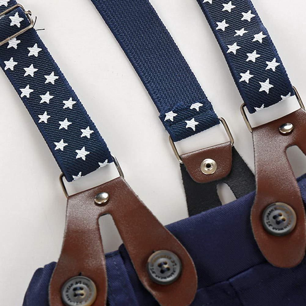 Bleu 18 Mois Lot de 3/pour 3 36/m ARAUS Gentleman Suit Infant b/éb/é gar/çon Chemise /à Manches Longues avec n/œud Papillon Jarretelles Ensemble Pantalon