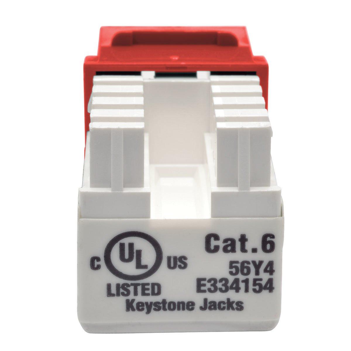Tripp Lite Cat6 Cat5e 110 Style Punch Down Keystone Jack Wiring Red Taa Gsa N238 001 Rd Electronics