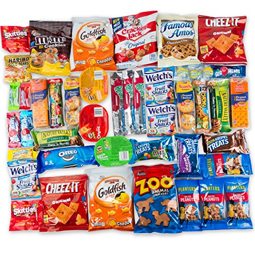 Your Favorite Snacks & Treats Care Package (45 Count) Perfect For College Students, Office, Military, Outings, Sports Events, - 3 Pounds Of Goodies!