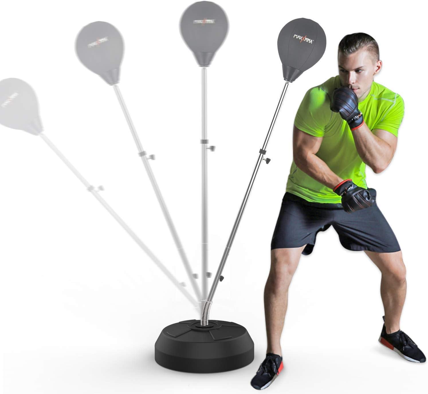 MaxxMMA Speed-Adjustable Freestanding Reflex Bag Kit by MaxxMMA