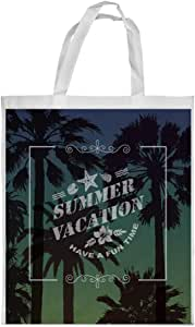 summer facation Printed Shopping bag, Large Size