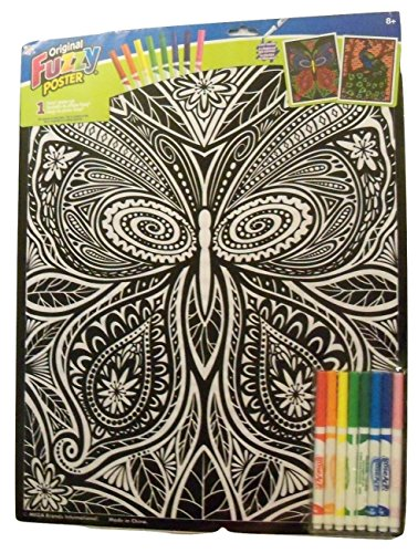 - Roseart Original Fuzzy 2 Poster Set ~ Nature (Intricate Butterfly + Beautiful Peacock; 16