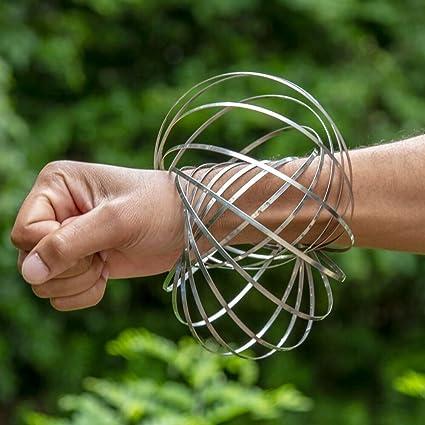 Steel Glow In Dark Outdoor Game Magic Flow Rings 3D Toroflux Fidget Toy Spring
