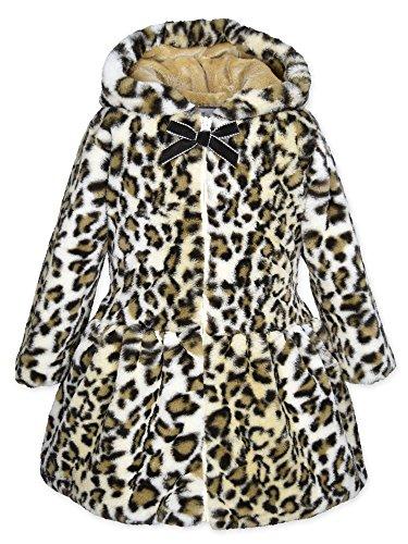 Widgeon Toddler Girls' Hooded Faux Fur Zip Coat 3510, Jvl/Javan Leopard, 4T -