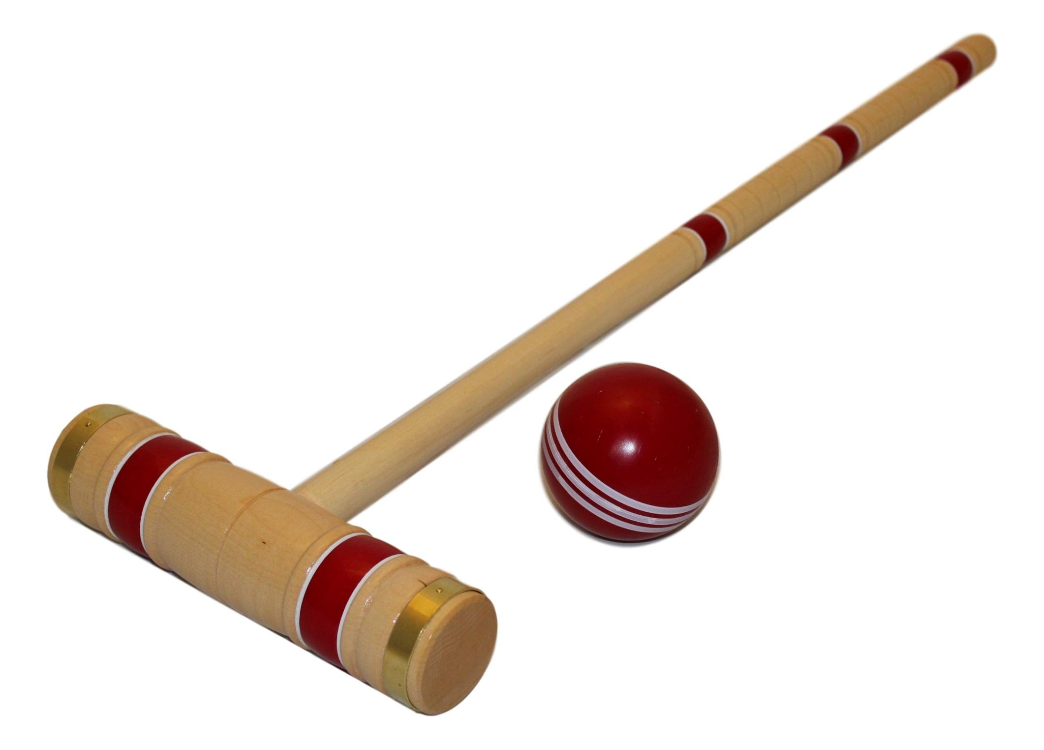 Amish-Crafted Deluxe Maple-Wood Croquet Game Set, 6 Player (Three 28'' Handles/Three 32'' Handles) by AmishToyBox.com (Image #4)