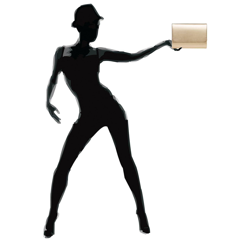 CASPAR TA411 Pochette de soir/ée XL pour femme Sac baguette Enveloppe Sac de soir/ée