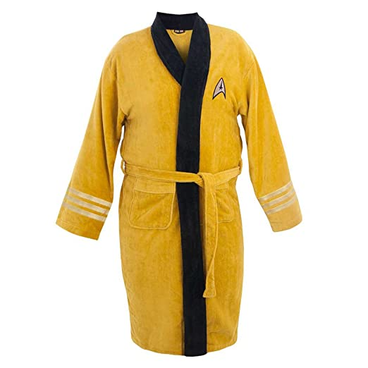 Star Trek Adult Captain Kirk Bath Robe Costume Officially Licensed (One Size)