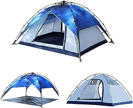 Tiendas de campaña para niños Fuera Impermeable, 3/4 Hombre Camping Tienda de campaña de Doble Capa Tienda de Vacaciones Ultraligero Mochila para Caminar Camping al Aire Libre: Amazon.es: Deportes y aire libre