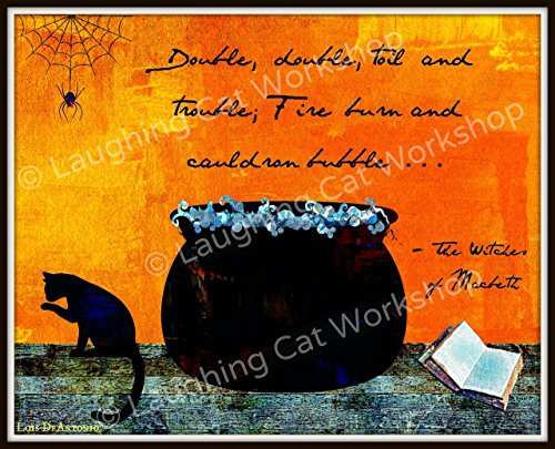 Buy cheap shakespeare witches macbeth art halloween decor english literature class back school poster drama theater print