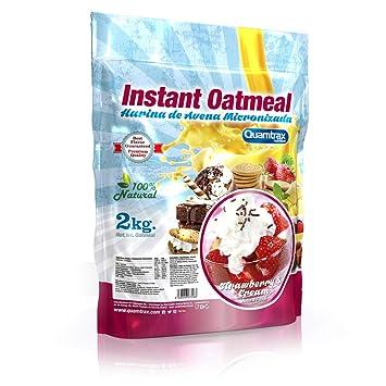 Quamtrax Nutrition Avena Instantánea, Sabor Fresa con Crema - 2000 gr