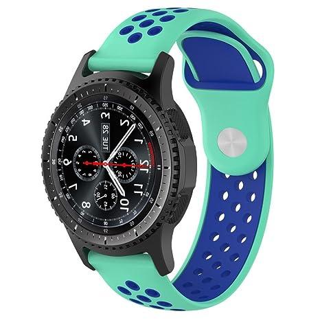 Logobeing Correa para Samsung Gear S3 Frontier Smartwatch/Classic Correa Reemplazo de Silicona Suave Replacement Pulsera de MuñEca (N)