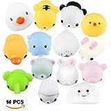 14pcs weiche Squishy Spielwaren Squishy Kawaii nettes langsames aufgehende Tierhand Spielzeug weiche Squeeze Spielzeug (gelegentliche Farbe)