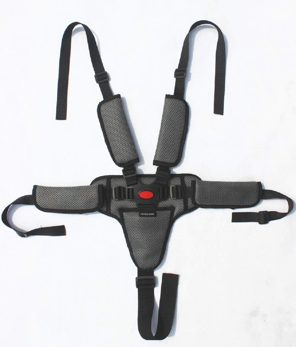 Xinzistar 5 Punkt Hochstuhl Gurt Sicherheitsgurt Baby Verstellbarer Universal Tripp Trapp Gurt Kinderschutz f/ür Buggy Kindersitz Kinderwagen Schwarz