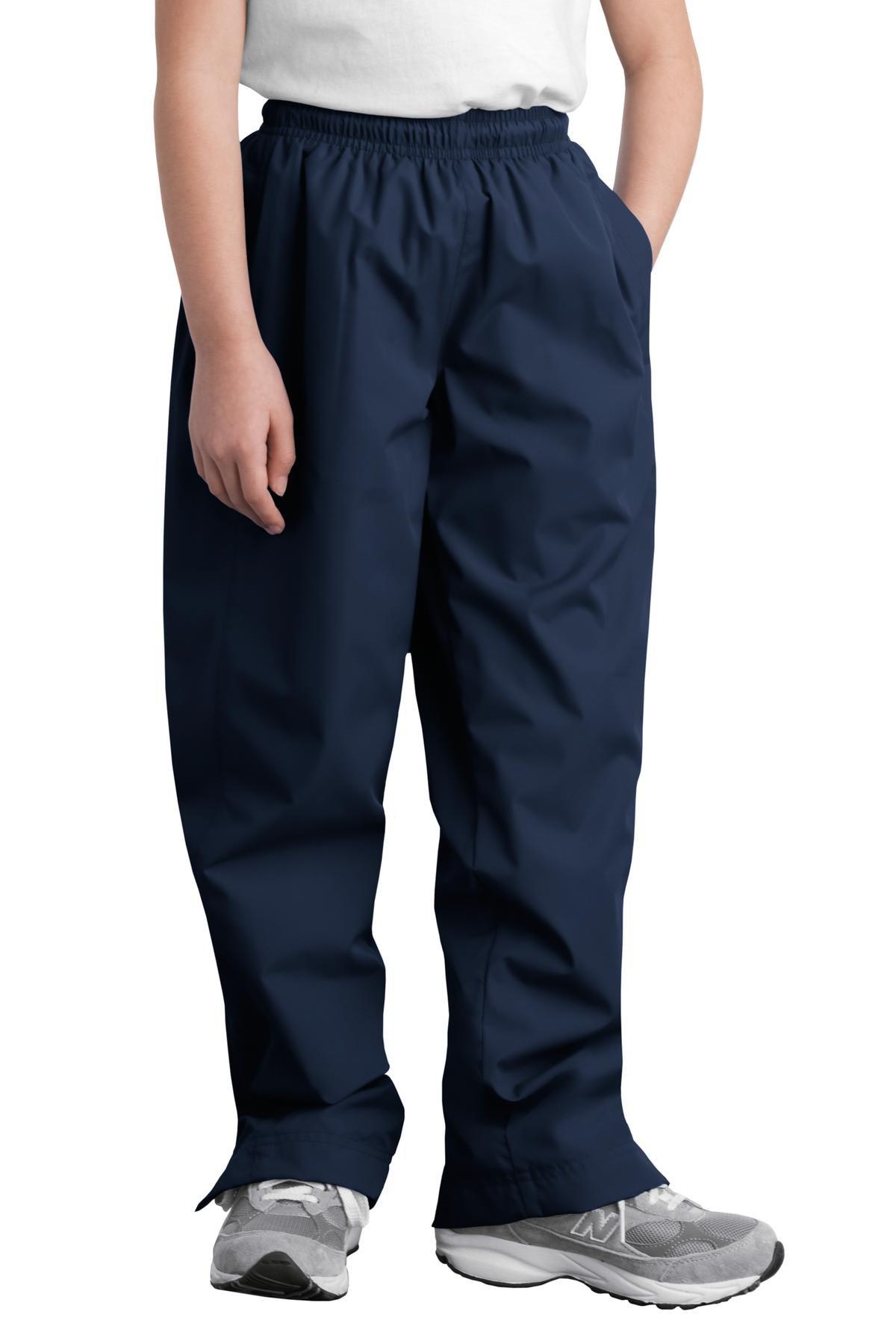 Sport-Tek Youth Wind Pant, True Navy, XL by Sport-Tek