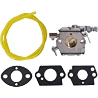 ALL-CARB Carburetor Fits for Tecumseh TC200 TC300 640347 640347A TM049XA Engines with Gasket Fuel Line Fuel Filter