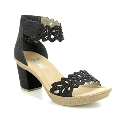 a08b232e55a Rieker Women's 66555 Ankle Strap Sandals