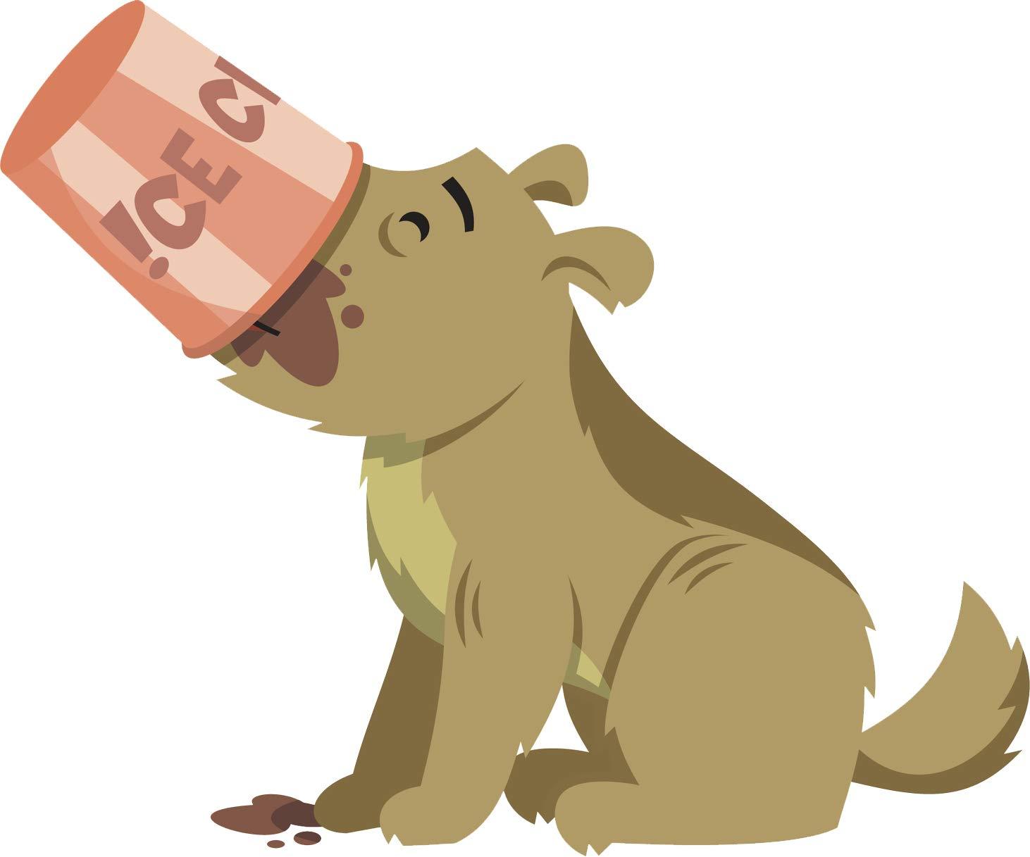 Amazoncom Adorable Silly Naughty Eating Scruffy Puppy Dog Cartoon