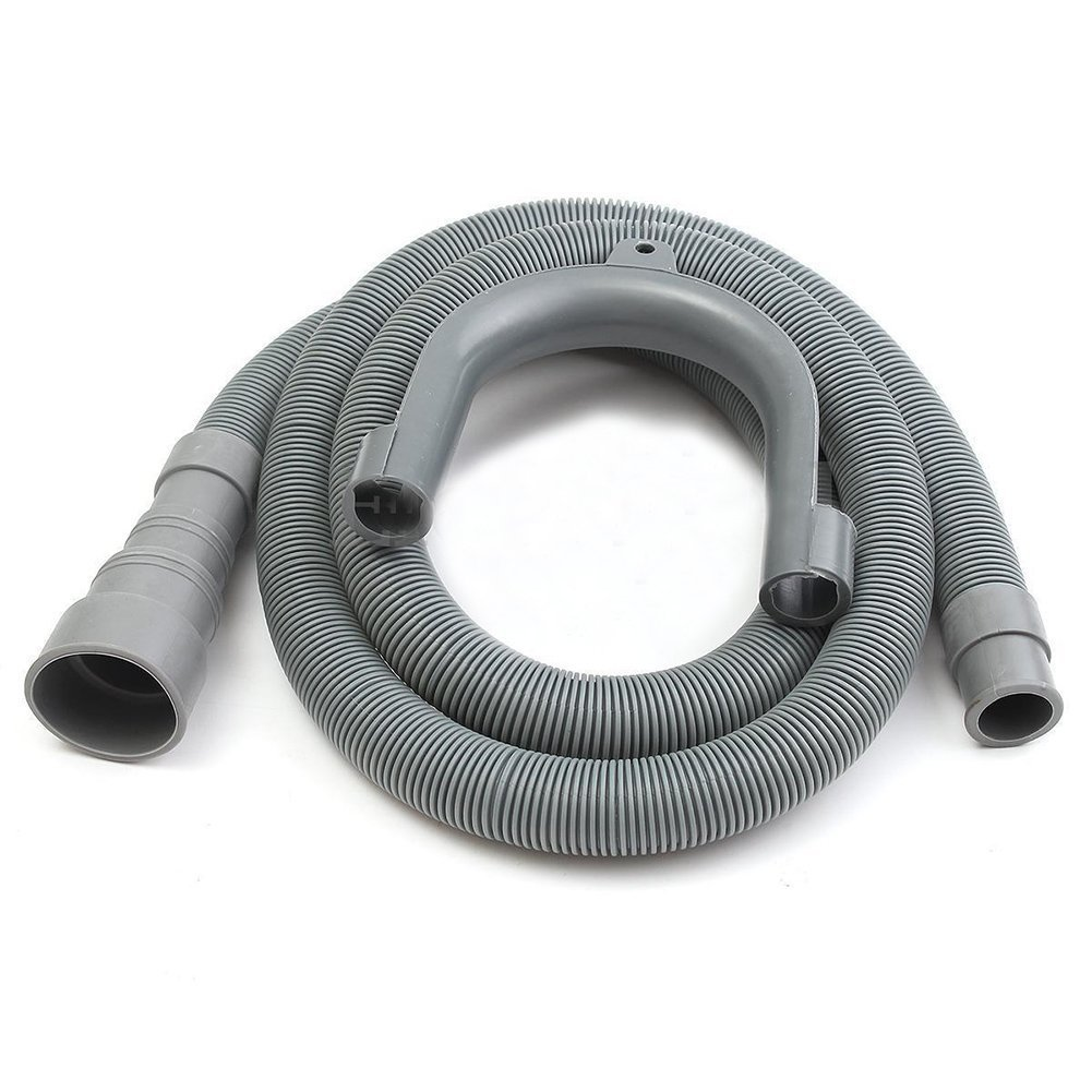 "SODIAL(R) 1.5M 5ft 59"" Machine Dishwasher Drain Hose Extension Washing Pipe with Bracket Set"
