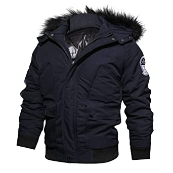 Amazon.com: iOPQO Mens Down Jacket, Winter Casual Long ...