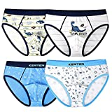 Auranso Little Boys Toddlers Cotton Briefs Underwear Dinosaur 4 Pack 2T-11T