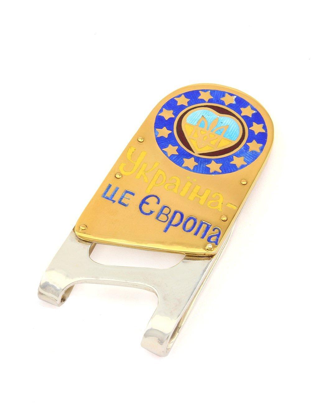 Silver Banknote clip Money clip ''Ukraine is Europe''