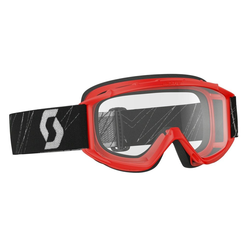 Scott Sports USA Unisex-Child 89Si Goggles (Red/ Clear AFC, One Size)