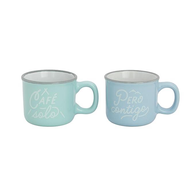 Mr. Wonderful Set de 2 tazas espresso con mensaje