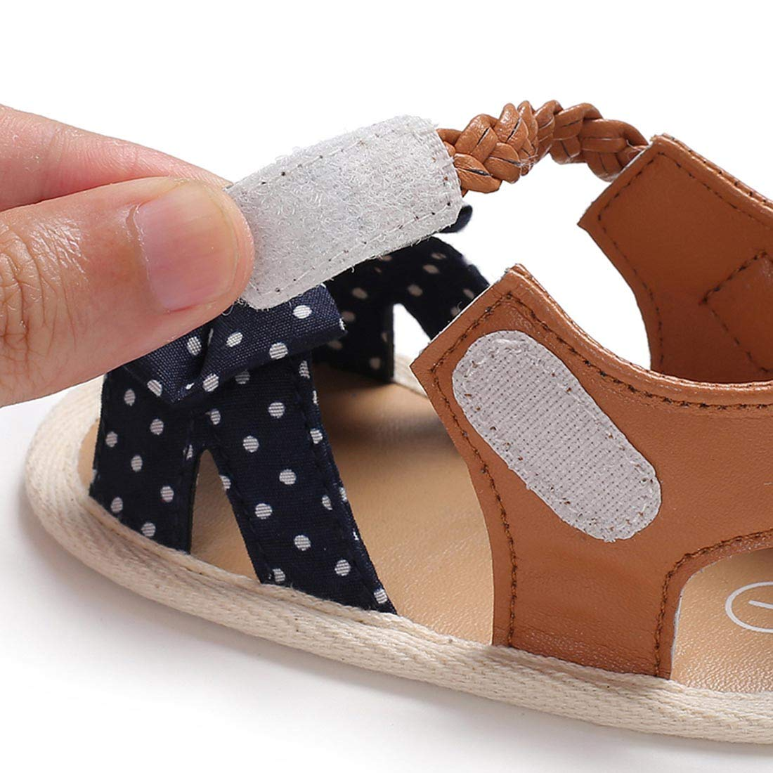 YIBLBOX Baby Toddler Girls Bowknot Sandals First Walker Shoes
