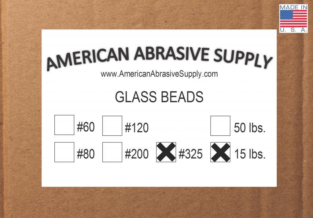 Glass Bead #325 Mesh Blasting Abrasive (50 micron) (15 lbs.)