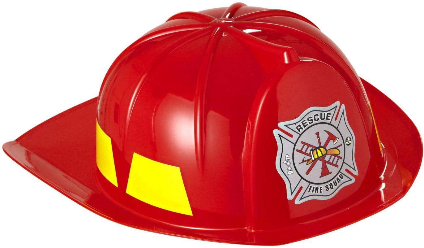 Widmann - CI21206 - Casque pompier enfant pvc rouge
