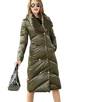 JBHURF Chaqueta de Abajo para Mujer Abrigo de Invierno de Solapa Chaqueta Larga y cálida Chaqueta
