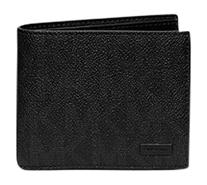 217b6a8869a2 Michael Kors Jet Set Shadow Billfold Mens Polyvinyl Wallet Mk Logo (Black)