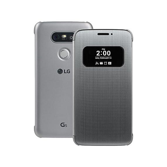 check out 5e89c e37f6 LG G5 Quick Cover Case CFV-160 Mesh Folio Case (SILVER)