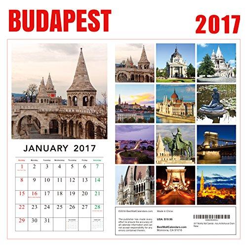 2017 Budapest Calendar - 12 x 12 Wall Calendar - 210 Free Reminder Stickers Photo #4