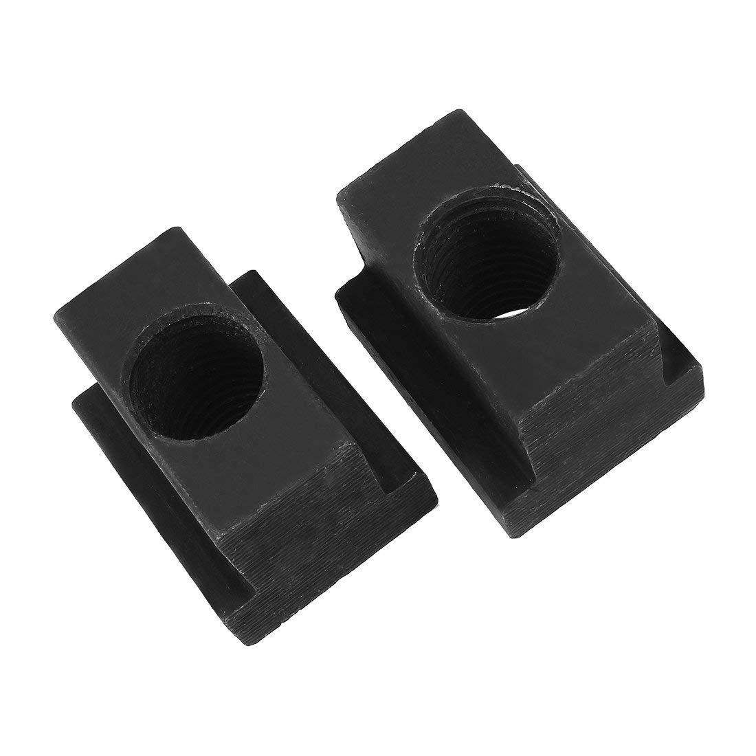 2 St/ück Stahl T-Nut Mutter Grad 10.9 Gewinde durch M20 Gewinde 4//5Schlitz Tiefe DE