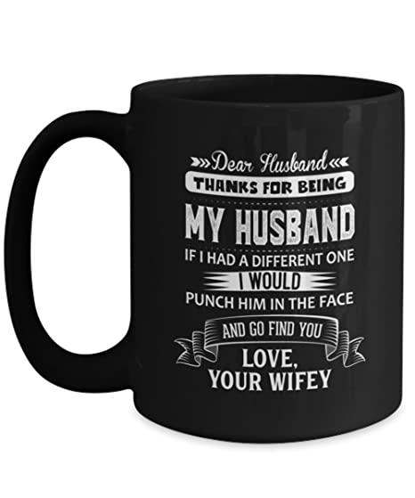 Funny Wife Gifts Dear Wife Travel mug Gift form husband Gifts for Wife