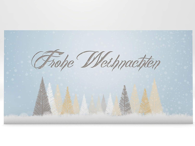 Tarjetas De Navidad Invierno Licher Y Cuento Bosque 50 Unidades