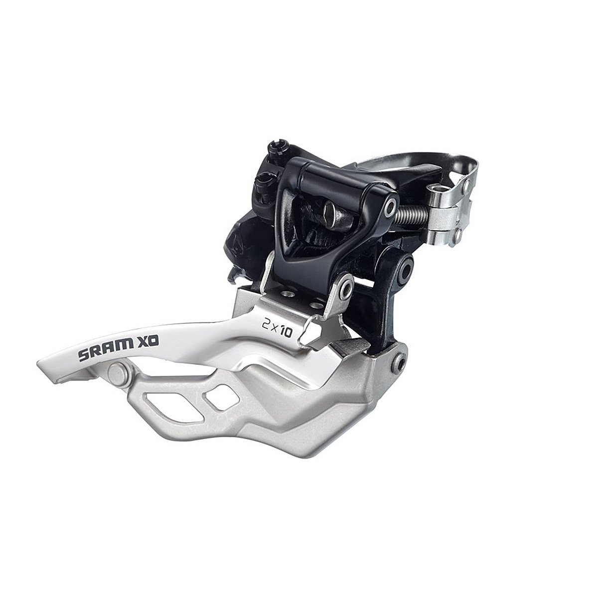 SRAM X0 Bicycle Front Derailleur with 3 x 10 High-Clamp 318 Compact Bottom Pull Cyclone Bicycle 00.7615.133.100