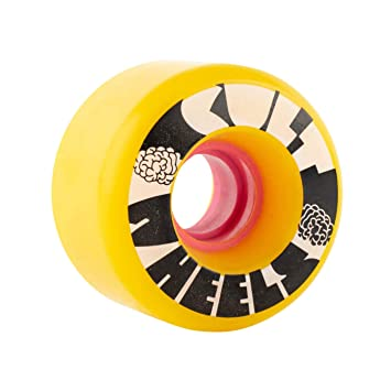 Cult Wheels Ruedas para Longboard, 63 mm, Amarillo, 80A