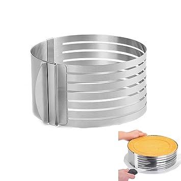 """ukey capa ajustable Cake cortador Anillo 9 """"a 12"""" cortador de capa Mousse"""