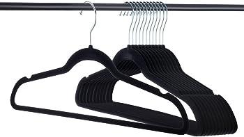 50-Pack Home-It Premium 360 Swivel Ultra-Thin Velvet Clothes Hangers