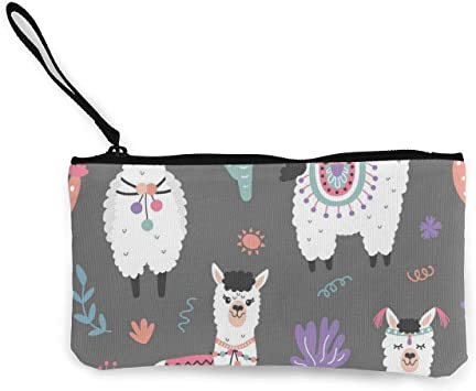 Cute Husky Womens Canvas Coin Purse Mini Change Wallet Pouch-Card Holder Phone Wallet Storage Bag,Pencil Pen Case