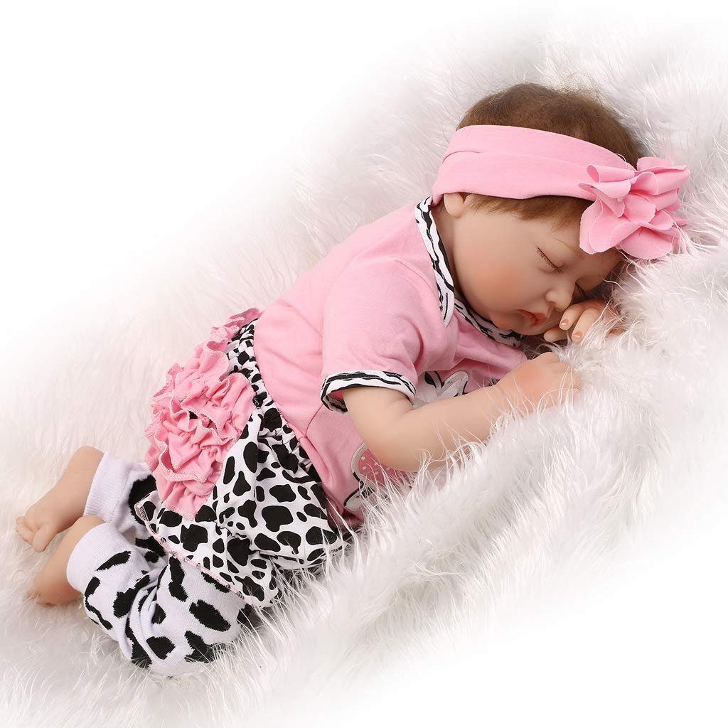 Amazon.com: Fenteer 22inch 55cm Lifelike Newborn Baby Doll Soft ...