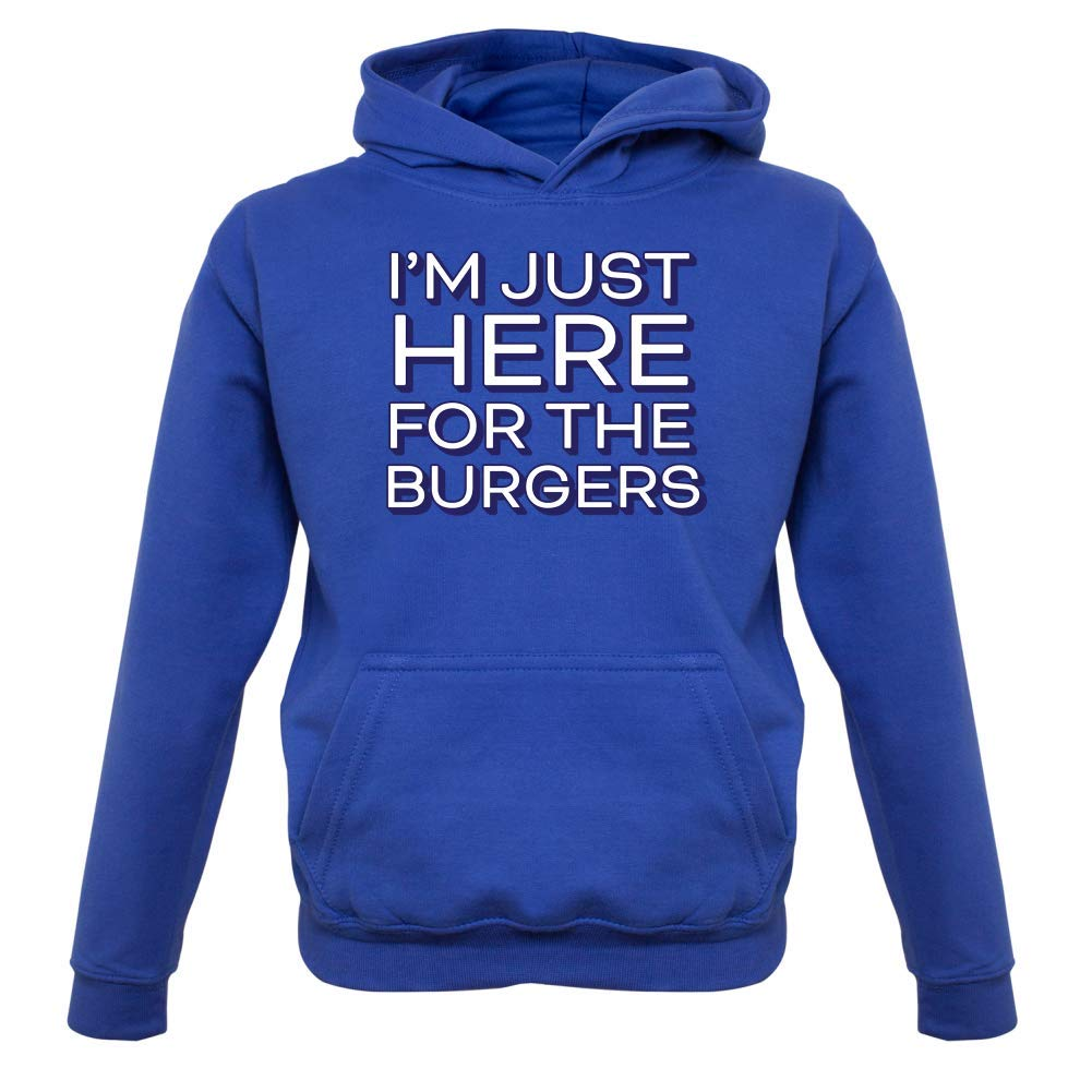 Kids Hoodie 1-13 Years 9 Colours Dressdown Here for The Burgers