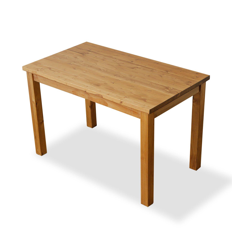 LOWYA (ロウヤ) ダイニングテーブル テーブル 無垢材 ラッカー塗装 角丸加工 ビンテージ風 木製 幅120cm ライトブラウン 新生活 B077F734DT幅120cm