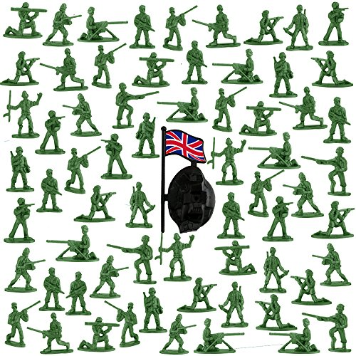 Soldiers Toy (Etmact Deluxe Bag Of Classic Toy Green Army Soldiers, Various Poses, 200 Count)