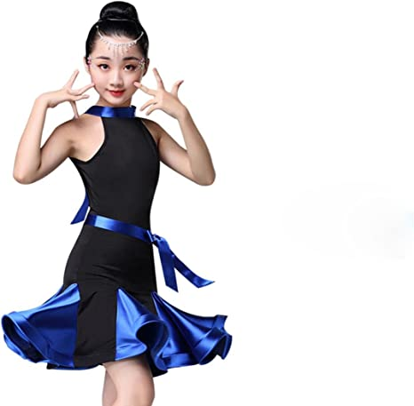 Falda de Baile Latino para niñas Falda de Ejercicio para niñas ...